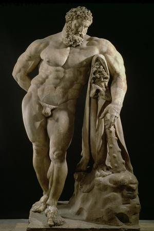 The Farnese Hercules, Roman Copy of Greek Original-Lysippos-Stretched Canvas Print