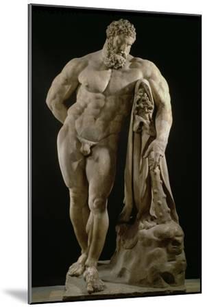 The Farnese Hercules, Roman Copy of Greek Original-Lysippos-Mounted Giclee Print