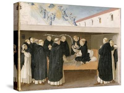 The Death of St. Dominic, from the Predella Panel of the Coronation of the Virgin, c.1430-32-Fra Angelico-Stretched Canvas Print