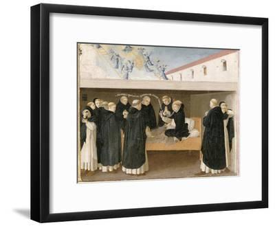 The Death of St. Dominic, from the Predella Panel of the Coronation of the Virgin, c.1430-32-Fra Angelico-Framed Giclee Print