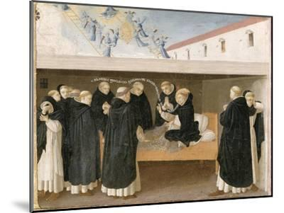 The Death of St. Dominic, from the Predella Panel of the Coronation of the Virgin, c.1430-32-Fra Angelico-Mounted Giclee Print