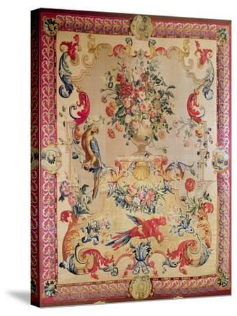 Tapestry in Early Rococo Style with Strapwork and Acanthus Leaves by Joshua Morris, 1720s--Stretched Canvas Print