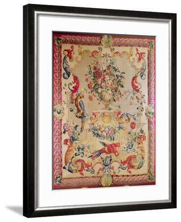Tapestry in Early Rococo Style with Strapwork and Acanthus Leaves by Joshua Morris, 1720s--Framed Giclee Print