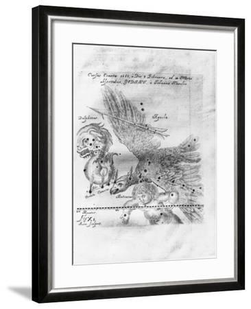 The Comet Discovered and Observed by Johannes Hevelius, 3rd February to 28th March 1661-Johann Hevelius-Framed Giclee Print