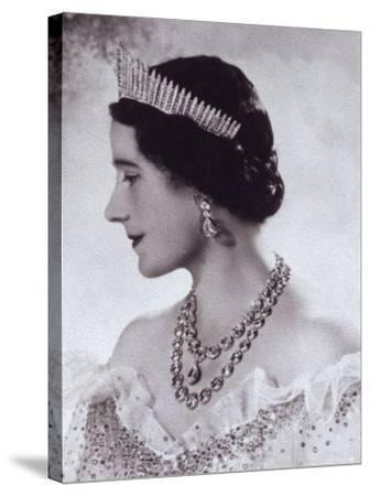 Portrait with Tiara of Her Majesty Queen Elizabeth, the Queen Mother-Cecil Beaton-Stretched Canvas Print