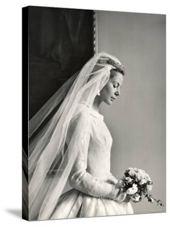 The Wedding of H.R.H the Duke of Kent and Miss Katharine Worsley at Hovingham Hall, North Yorkshire-Cecil Beaton-Stretched Canvas Print