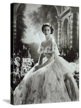 Portrait of Princess Margaret in Ballgown, Countess of Snowdon, 21 August 1930 - 9 February 2002-Cecil Beaton-Stretched Canvas Print
