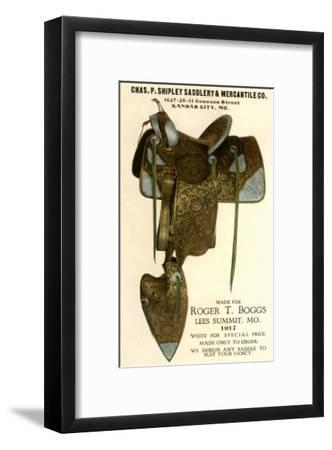 Saddle--Framed Art Print