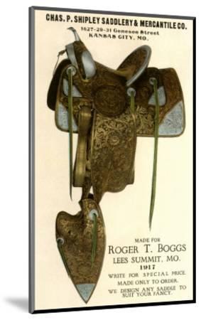 Saddle--Mounted Art Print