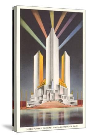 Three Fluted Towers, Chicago World's Fair--Stretched Canvas Print