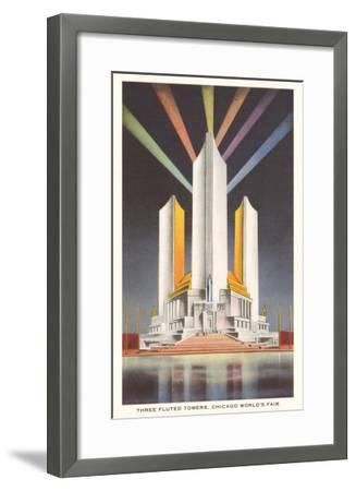 Three Fluted Towers, Chicago World's Fair--Framed Art Print