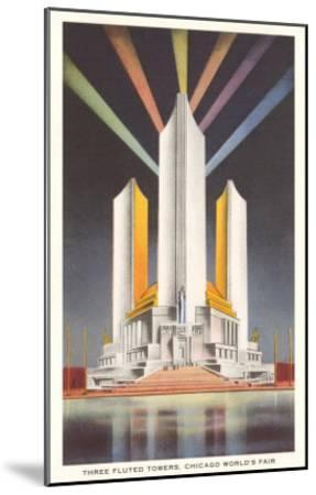 Three Fluted Towers, Chicago World's Fair--Mounted Art Print
