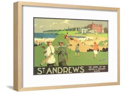 St. Andrews Golf Course--Framed Premium Giclee Print