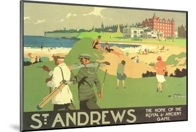 St. Andrews Golf Course--Mounted Premium Giclee Print
