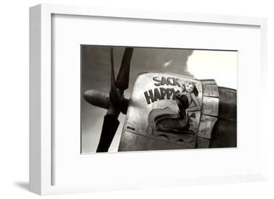 Nose Art, Sack Happy Pin-Up--Framed Art Print