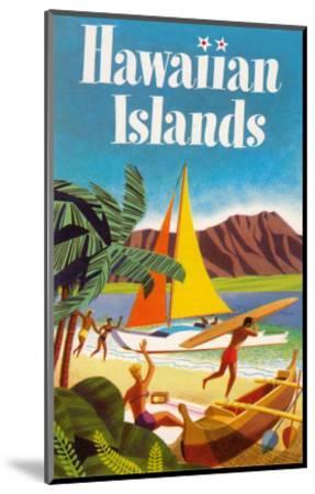 Hawaiian Islands Poster--Mounted Premium Giclee Print
