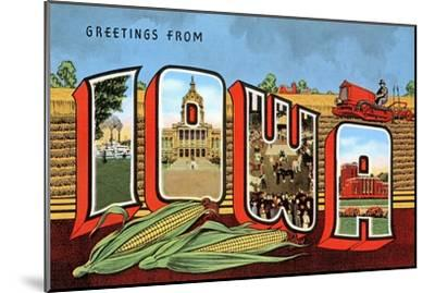 Greetings from Iowa--Mounted Art Print