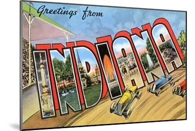 Greetings from Indiana--Mounted Art Print