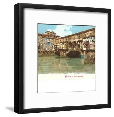Ponte Vecchio, Florence, Italy--Framed Art Print