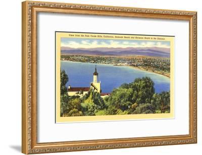 Redondo and Hermosa Beach, California--Framed Art Print