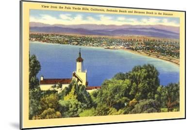 Redondo and Hermosa Beach, California--Mounted Art Print