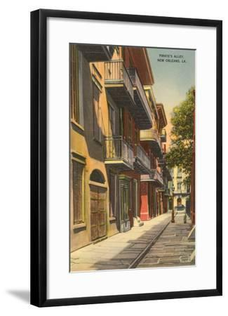 Pirates' Alley, New Orleans, Louisiana--Framed Art Print