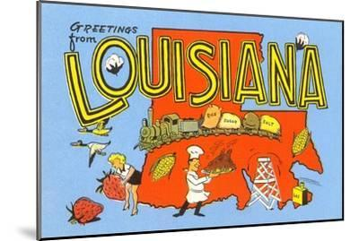 Greetings from Louisiana--Mounted Art Print