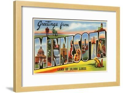 Greetings from Minnesota--Framed Art Print