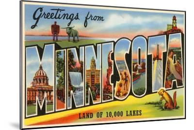 Greetings from Minnesota--Mounted Art Print