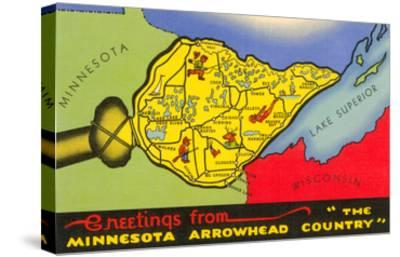 Greetings from Arrowhead Country--Stretched Canvas Print