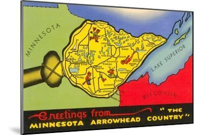 Greetings from Arrowhead Country--Mounted Art Print