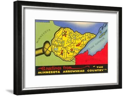 Greetings from Arrowhead Country--Framed Art Print