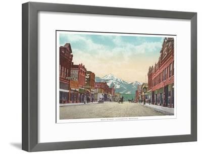 Main Street, Livingston, Montana--Framed Art Print