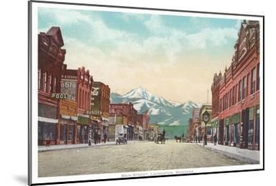 Main Street, Livingston, Montana--Mounted Art Print