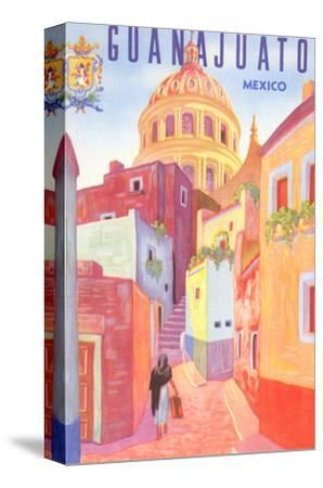Poster for Guanajuato, Mexico, Colonial Streets--Stretched Canvas Print