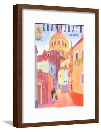 Poster for Guanajuato, Mexico, Colonial Streets--Framed Art Print