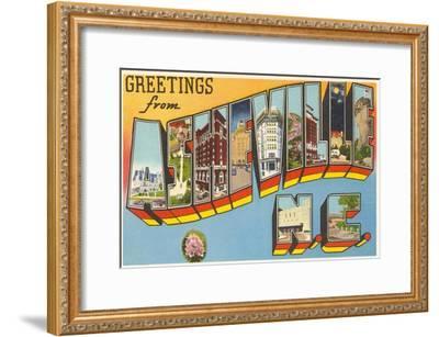 Greetings from Asheville, North Carolina--Framed Art Print