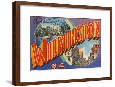 Greetings from Wilmington, North Carolina--Framed Art Print
