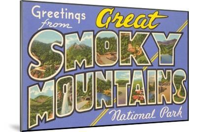 Greetings from Smoky Mountains--Mounted Art Print