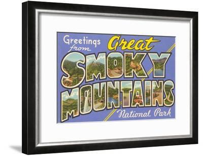 Greetings from Smoky Mountains--Framed Art Print