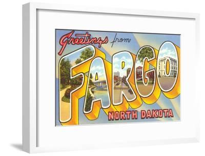 Greetings from Fargo, North Dakota--Framed Art Print