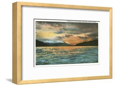 Lake George, New York--Framed Art Print