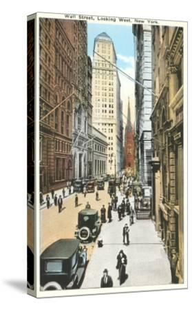 Wall Street, New York City--Stretched Canvas Print