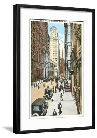Wall Street, New York City--Framed Art Print