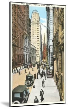 Wall Street, New York City--Mounted Art Print