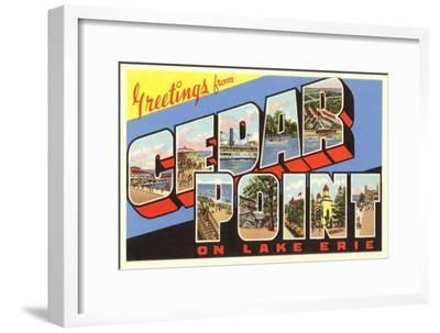 Greetings from Cedar Point, Ohio--Framed Art Print