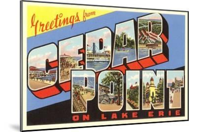 Greetings from Cedar Point, Ohio--Mounted Art Print