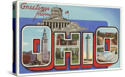 Greetings from Ohio--Stretched Canvas Print