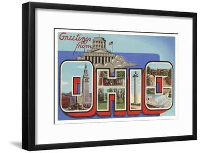 Greetings from Ohio--Framed Art Print