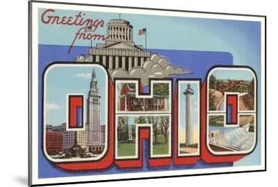 Greetings from Ohio--Mounted Art Print